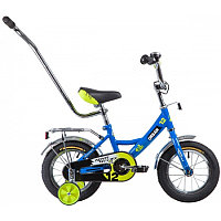 """Велосипед NOVATRACK 12"""", URBAN, синий, полная защита цепи, тормоз нож., крылья и баг хром, упр.ручка"""