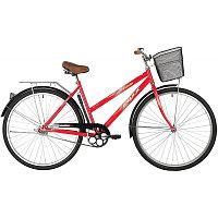 """Велосипед FOXX 28"""" FIESTA красный, сталь, размер 20"""" + передняя корзина"""