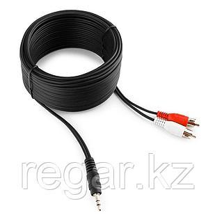 Кабель аудио Cablexpert CCA-458-10M, джек3.5 / 2xRCA, 10м