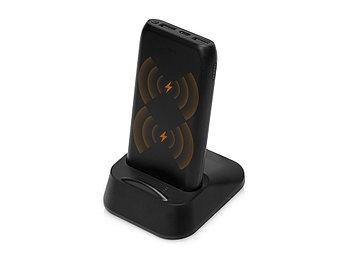 Портативное беспроводное зарядное устройство с док-станцией Uniq, 10000 mah, черный
