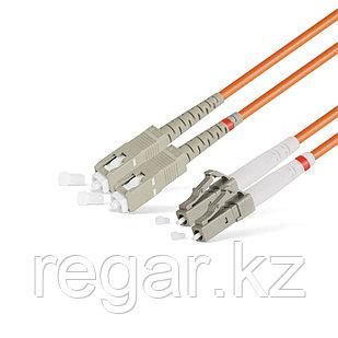 Патч Корд Оптоволоконный SC/UPC-LC/UPC MM OM2 50/125 Duplex 3.0мм 1 м