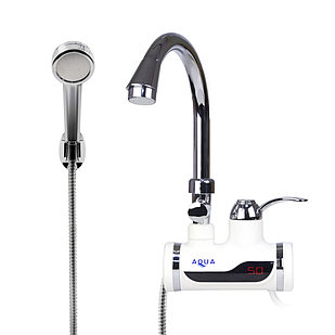 Кран водонагреватель проточной воды AQUA WH102W с душем