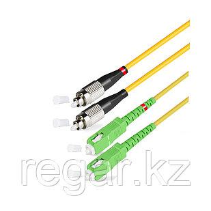 Патч Корд Оптоволоконный SC/APC-FC/UPC SM 9/125 Duplex 2.0мм 1 м