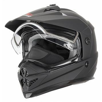 Снегоходный шлем DSE1, двойное стекло, матовый, чёрный, 2XL