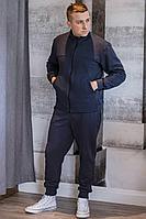 Мужской осенний трикотажный синий спортивный большого размера спортивный костюм GO M3009/30-03.176-182 44р.