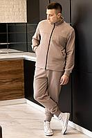 Мужской осенний трикотажный бежевый спортивный большого размера спортивный костюм GO M3009/04-03.176-182 44р.