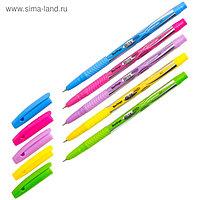 Ручка шариковая Berlingo Blitz Pro, чернила синие, узел 0.7 мм, мягкий резиновый грип, микс