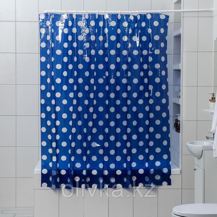 Штора для ванной комнаты Доляна «Вечер», 180×180 см, PVC