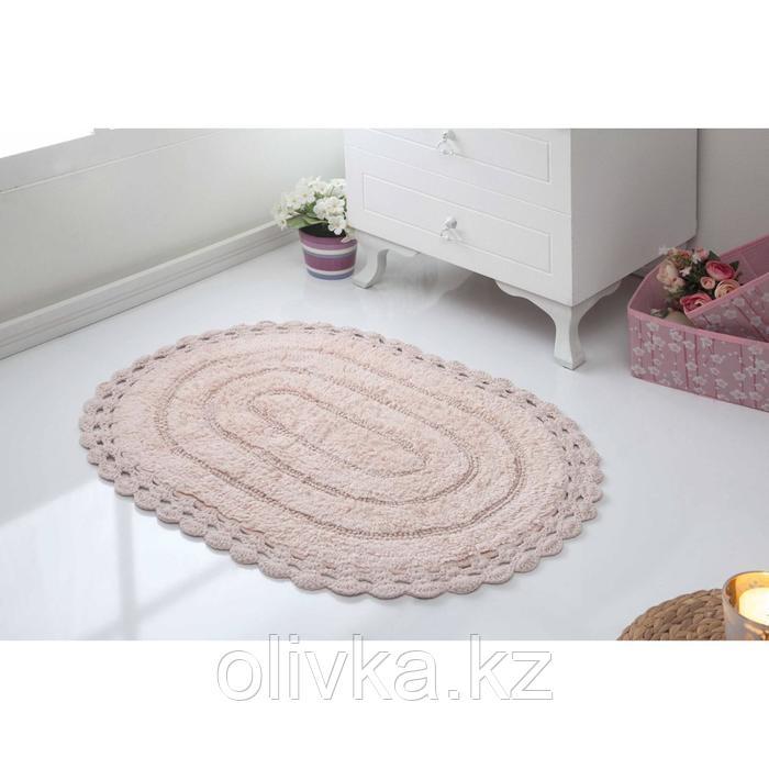 Коврик для ванной Yana, размер 50х70 см, цвет пудра