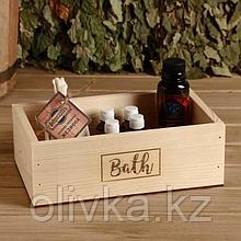 """Ящик деревянный """"Bath"""", 24.5×14×8 см"""