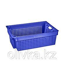 Ящик пластиковый, 102-1П, 60х40х20см, синий