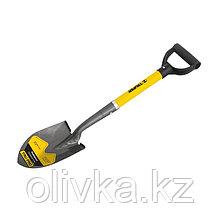 Лопата штыковая мини, черенок фибергласс, пластиковая ручка