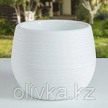 Горшок для цветов «Япония» 2 л, цвет белый
