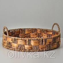 Корзина плетеная, 40х8/13 см, камыш
