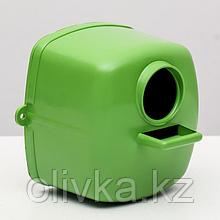 Скворечник/гнездо для птиц пластиковый, 10 х 10 х 10 см, микс цветов