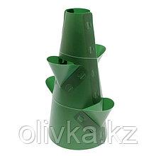 Клумба конусная, d = 10–30 см, h = 60 см, зелёная