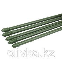 Колышек для подвязки растений, h = 180 см, d = 1,1 см, набор 5 шт., металл в пластике, «Бамбук»
