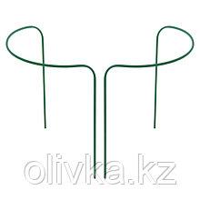 Кустодержатель, d = 30 см, h = 60 см, ножка d = 1 см, металл, набор 2 шт., зелёный