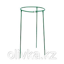 Кустодержатель, d = 50 см, h = 70 см, ножка d = 1 см, металл, зелёный, троеножка
