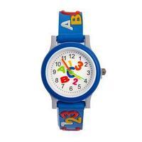 Часы наручные детские 'Цифры и буквы', d3 см, ремешок 20 см