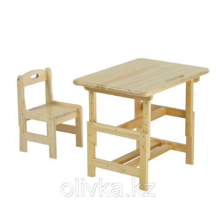 Набор мебели Стол и Стул регулируемые, массив/лак, от 1 до 4 лет