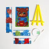 Алмазная мозаика на подставке «Мишка» для детей, размер 10 х 15 см. Набор для творчества, фото 4