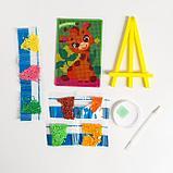 Алмазная мозаика на подставке «Улыбнись» для детей, размер 10 х 15 см. Набор для творчества, фото 4