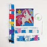 Алмазная мозаика для детей «Пони» + ёмкость, стержень, клеевая подушечка, фото 3