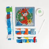 Алмазная мозаика для детей «Жираф», 15 х 15 см + емкость, стерж, клеев подушечка. Набор для творчества, фото 3