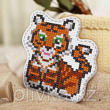 Вышивка крестиком, игрушка «Весёлый тигрёнок». Набор для творчества