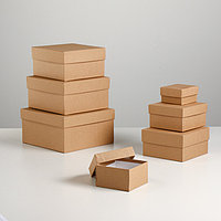 "Набор коробок 7в1 ""Крафт однотонный"" 20 х 20 х 10 - 8 х 8 х 4 см"