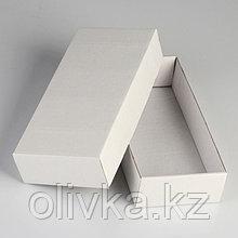 Коробка сборная без печати крышка-дно белая без окна 24 х 11,5 х 4,5 см