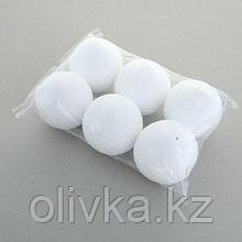 Набор шаров из пенопласта, 10 см, 6 штук