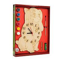 Часы с циферблатом под роспись «Собачка Леди» с красками