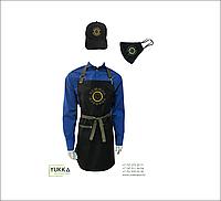 Фартуки, маски, кепки с логотипом