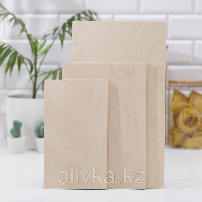 Набор досок разделочных №1, 3 шт: 24×14, 30×18, 37×21 см