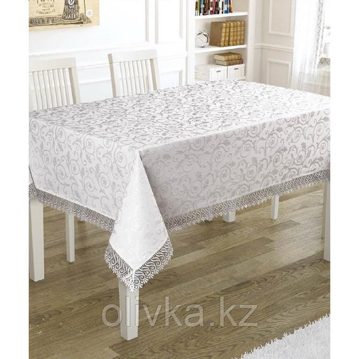 Скатерть KDK 140х180 см, цвет белый
