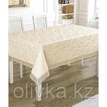 Скатерть KDK 160х220 см, цвет кремовый