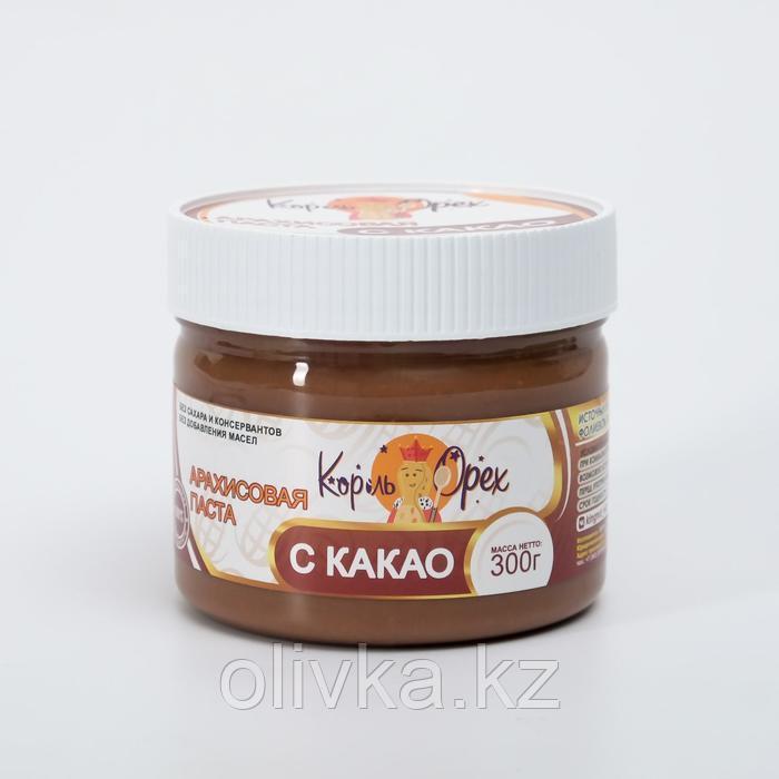 """Арахисовая паста """"Король Орех"""" с какао, 300 г"""