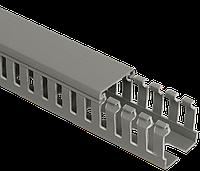 Кабель-канал перфорированный 80х60 ИМПАКТ IEK, фото 1