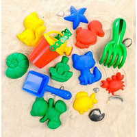 Набор для игры в песке, 6 формочек, совок, лейка, грабли, цвета МИКС