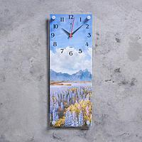 """Часы настенные, серия Природа, """"Горный пейзаж"""", плавный ход, 49.5х19.5 см"""