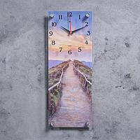 """Часы настенные, серия Природа, """"Горная дорога"""", плавный ход, 49.5х19.5 см"""