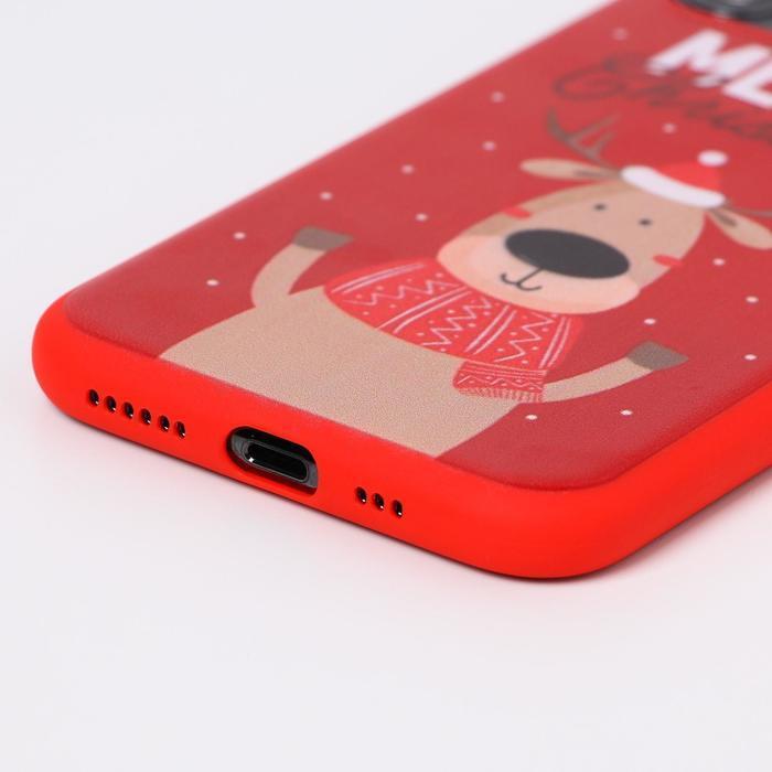 Чехол для телефона iPhone 11 pro «Счастливого рождества», с персонажем, 7,14 х 14,4 см - фото 2