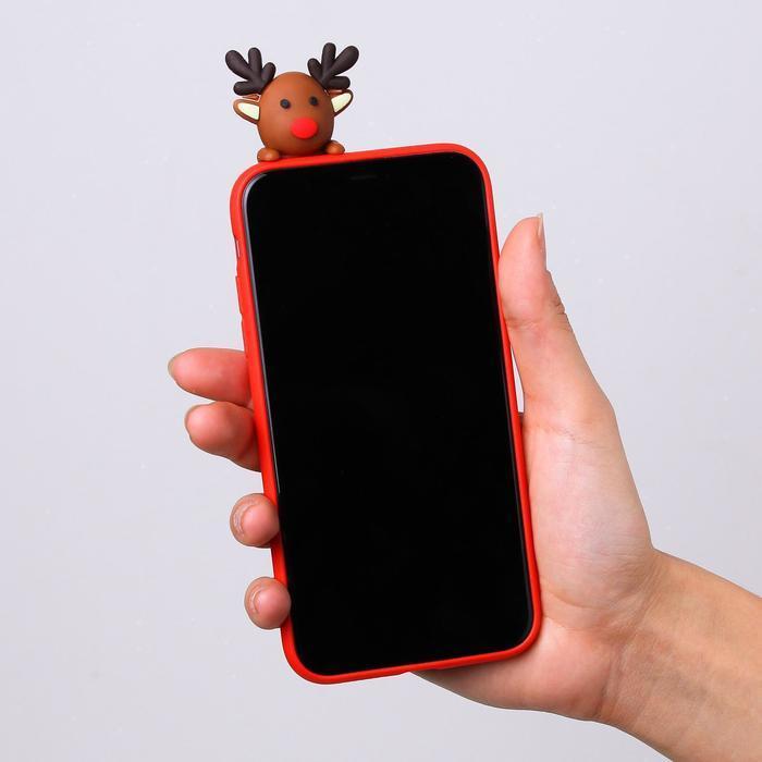 Чехол для телефона iPhone 11 pro «Счастливого рождества», с персонажем, 7,14 х 14,4 см - фото 3