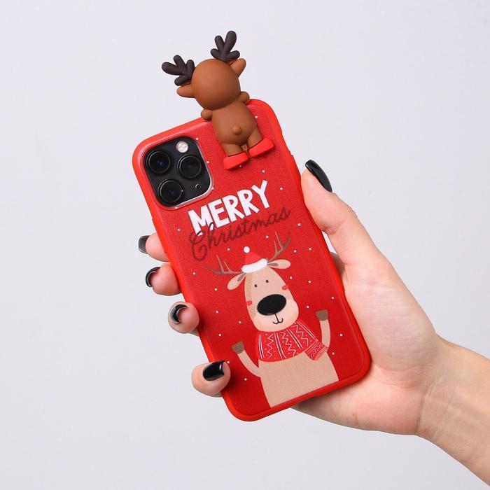 Чехол для телефона iPhone 11 pro «Счастливого рождества», с персонажем, 7,14 х 14,4 см - фото 4