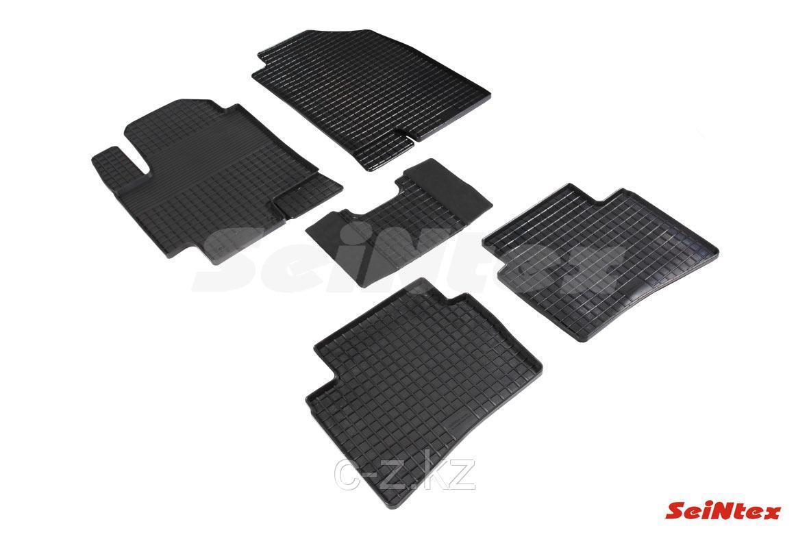 Резиновые коврики Сетка для Hyundai Accent 2017-н.в.