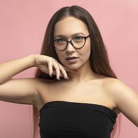 Очки для компьютера женские, 13.8х3х5.5 см, линза 4.8х5.5 см , чёрные