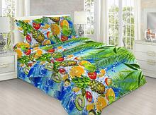 """Постельное бельё из бязи по Акции """"Тропические фрукты"""", размер 1,5 спальный"""