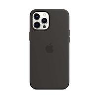 Чехол Apple iPhone 12 Pro силиконовый, черный